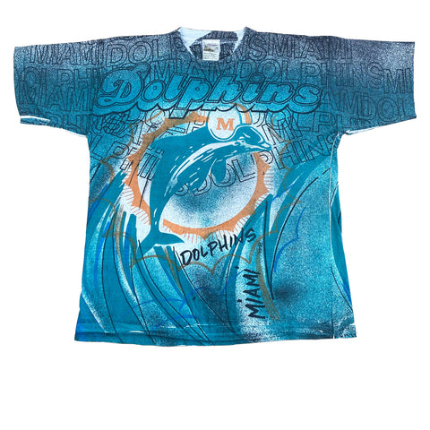1990s Miami Dolphins AOP T-Shirt (XL)