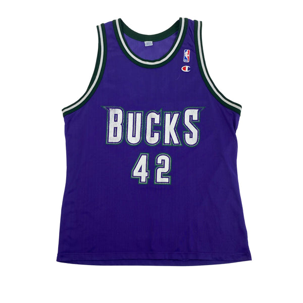 1990s Milwaukee Bucks Vin Baker Champion Jersey (XL) (48)