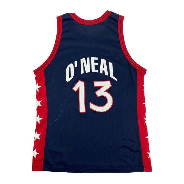 1996 USA Basketball Dream Team Shaq Champion Jersey (XL) (48)