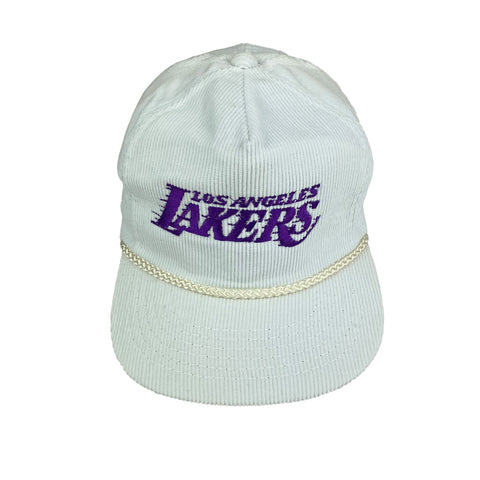 1980s Los Angeles Lakers White Corduroy Hat