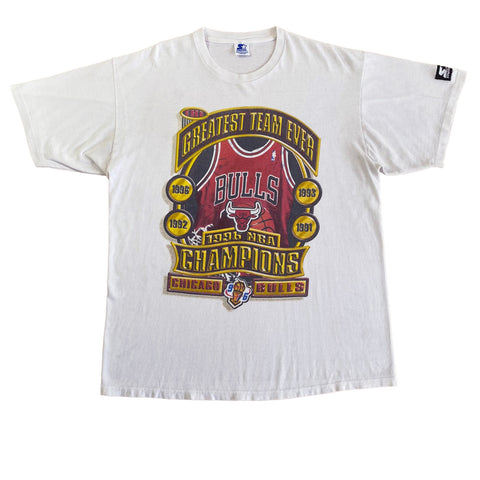 1996 Chicago Bulls Starter T-Shirt (L-XL)