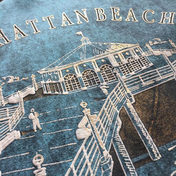 1992 Manhattan Beach Tourist T-Shirt