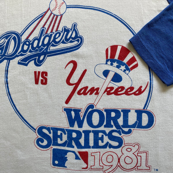 1981 World Series Dodgers VS Yankees MLB T-Shirt
