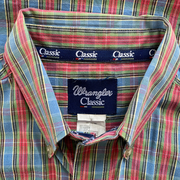 2000s Wrangler Plaid Buttondown