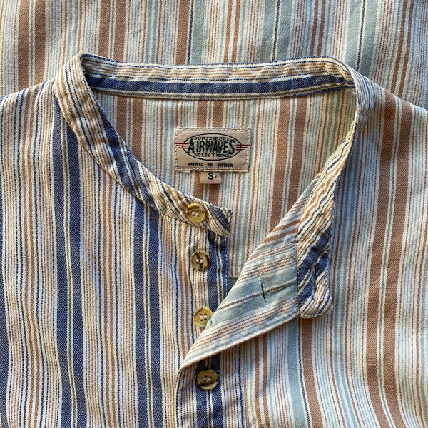 1990s Airwaves Collarless Buttondown