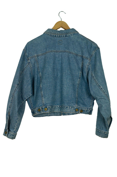 Clark Air Wear Cropped Denim Jacket