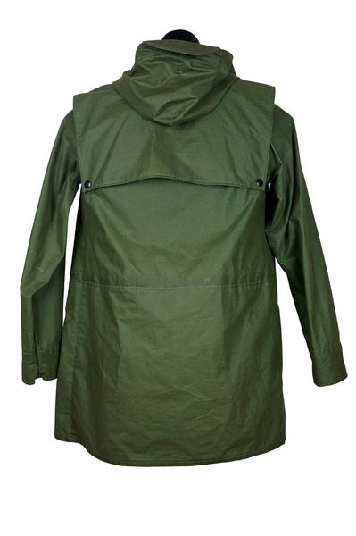 80s Army Green Anorak Raincoat