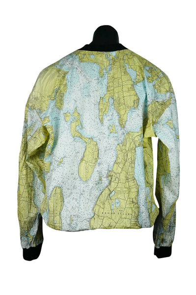 80s Ty-Breakers Map Print Bomber Jacket