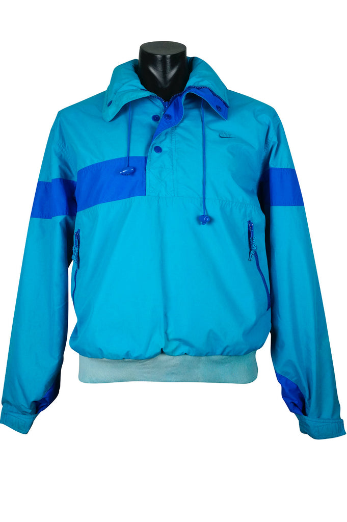 Nike Aqua Blue Jacket with Foldaway Hood