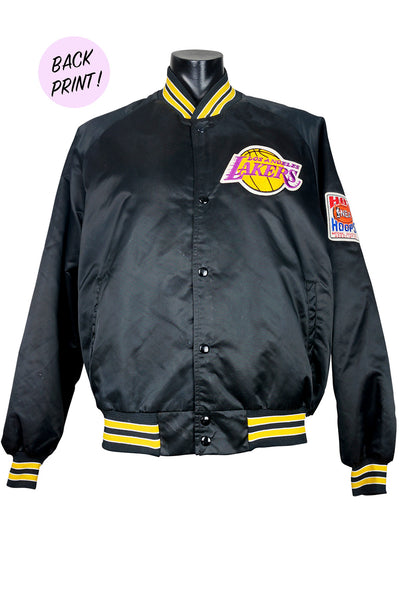 6e63d9d8a 90s Los Angeles Lakers Satin Bomber Jacket – Percy's Vintage and ...