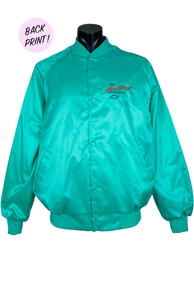 1980s Chevrolet Satin Bomber Jacket