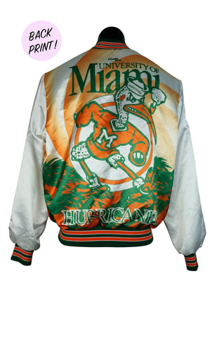 1980s Miami Hurricanes Chalk Line Fanimation Jacket