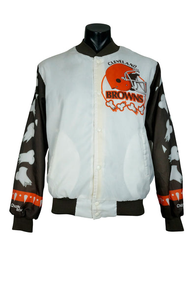 1980s Cleveland Browns Chalk Line Fanimation Jacket