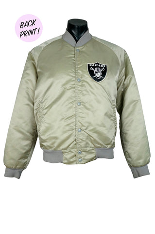 Rare Oakland Raiders Satin Chalk Line Jacket
