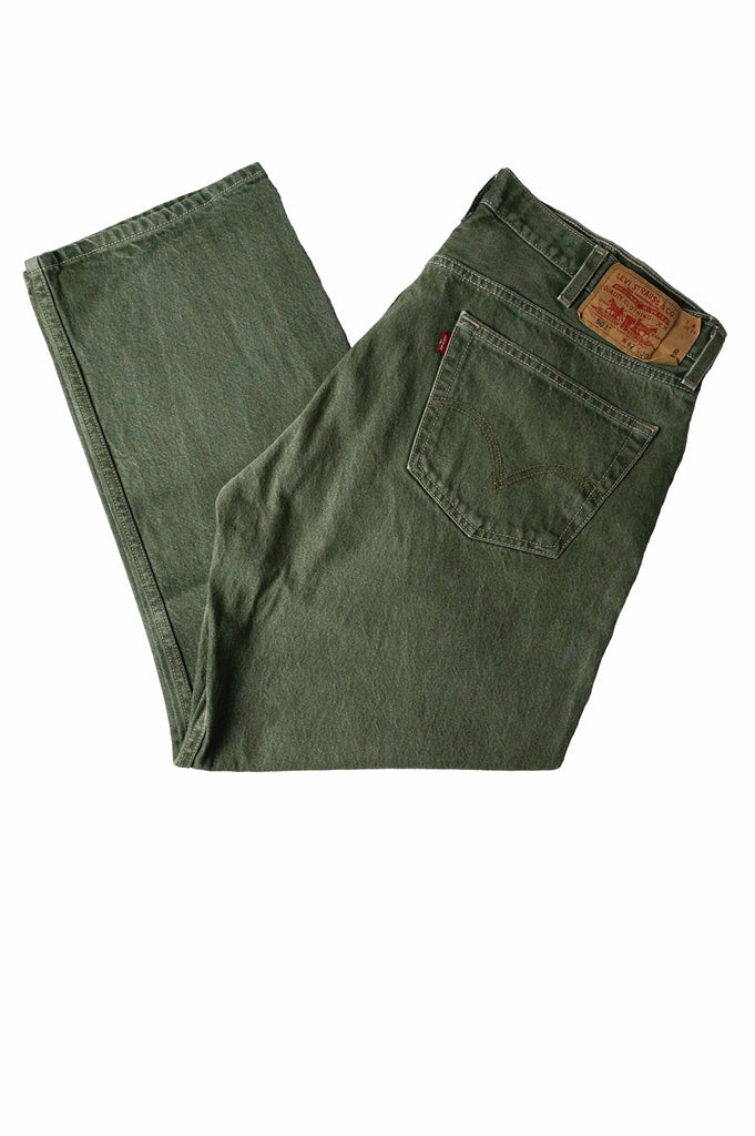 Levi's 501 Green Denim Jeans