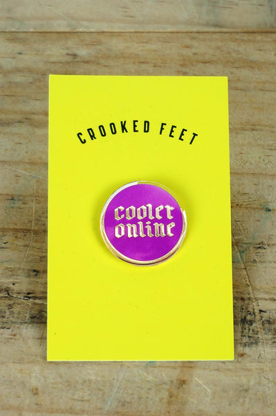 Enamel Pin - Cooler Online // Purple