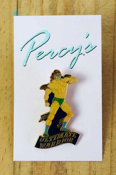 Percy's Vintage Pin - Ultimate Warrior WWF