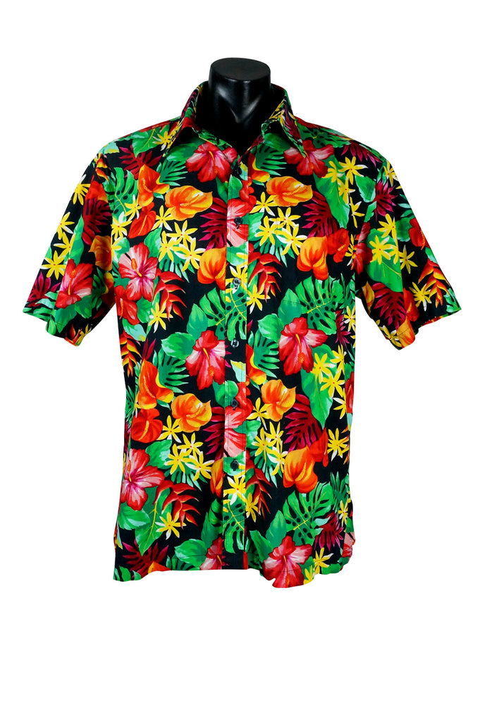 Bright Floral Aloha Buttondown