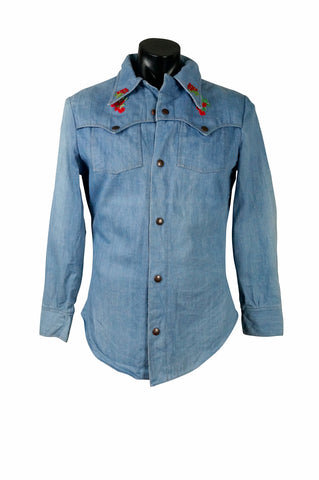 1970s Wrangler Denim Western Shirt