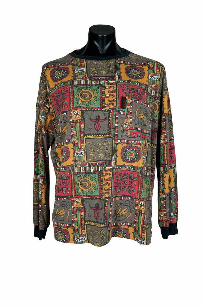 1990s Yaga All Over Print Long Sleeve