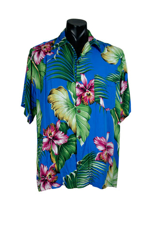Tropical Floral Aloha Shirt
