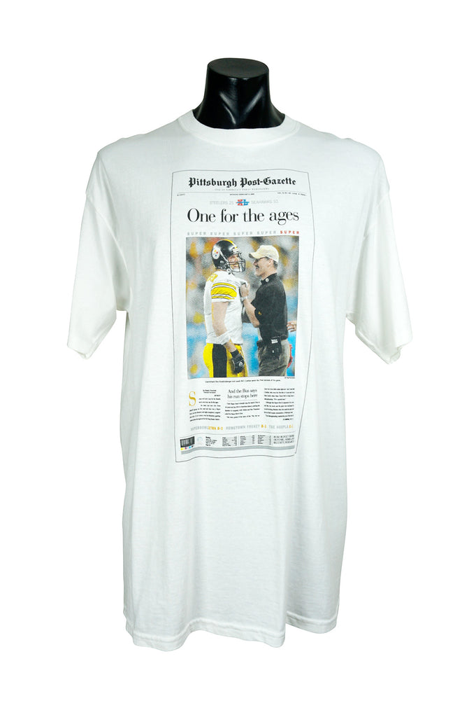Pittsburgh Steelers Super Bowl Newspaper T-Shirt
