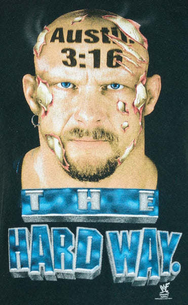 1998 WWF Stone Cold Steve Austin 3:16 The Hard Way T-Shirt