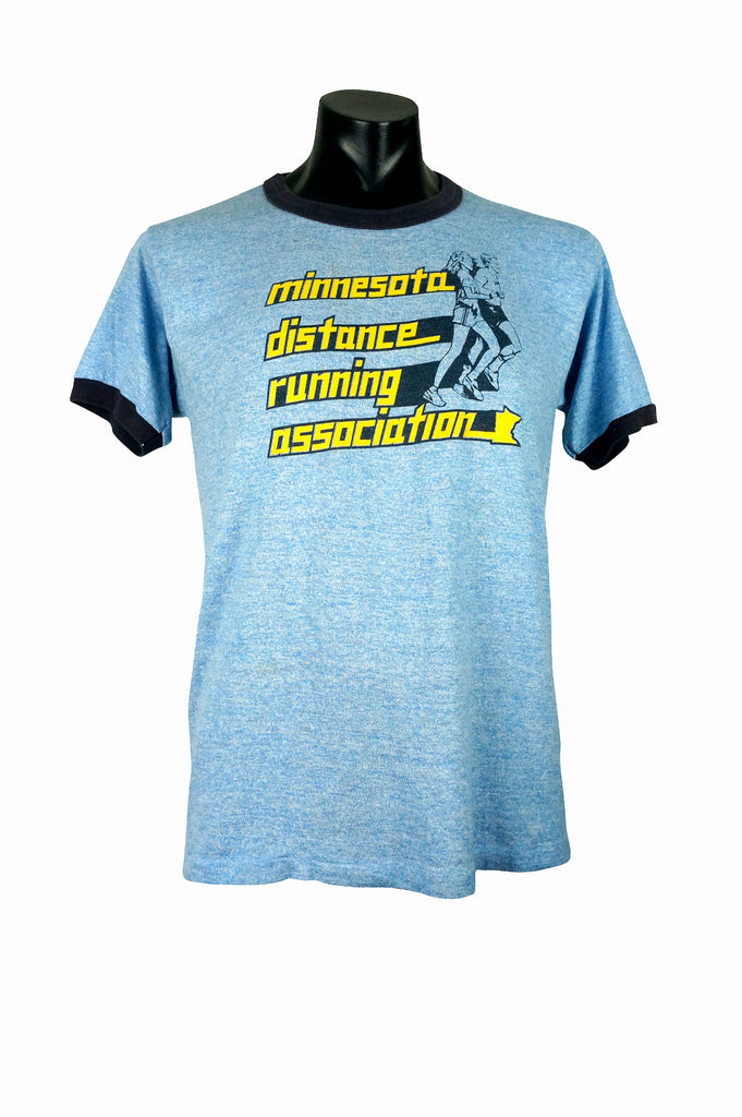 80s Minnesota Distance Running Association Tri-Blend Ringer T-Shirt