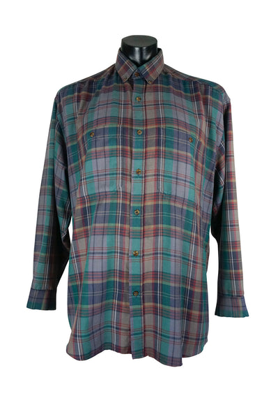 Vintage Purple & Green Checked Shirt