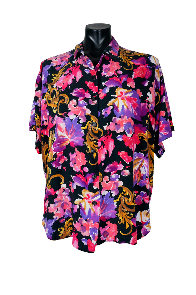 1990s Ornate Floral Shirt