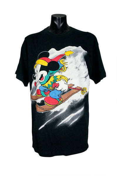 1990s Mickey Mouse Skiing T-Shirt