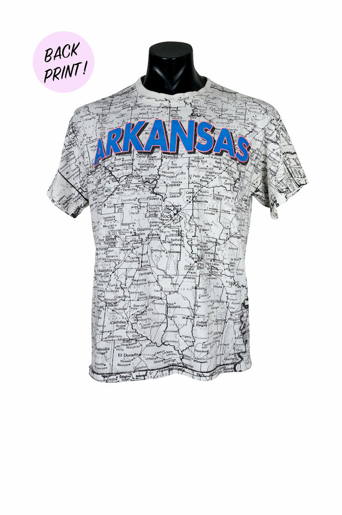 1990s Arkansas Map Tourist T-Shirt