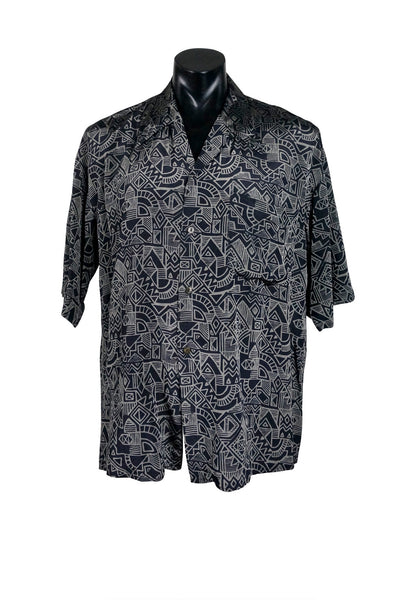 1990s Workshop Geo Print Buttondown