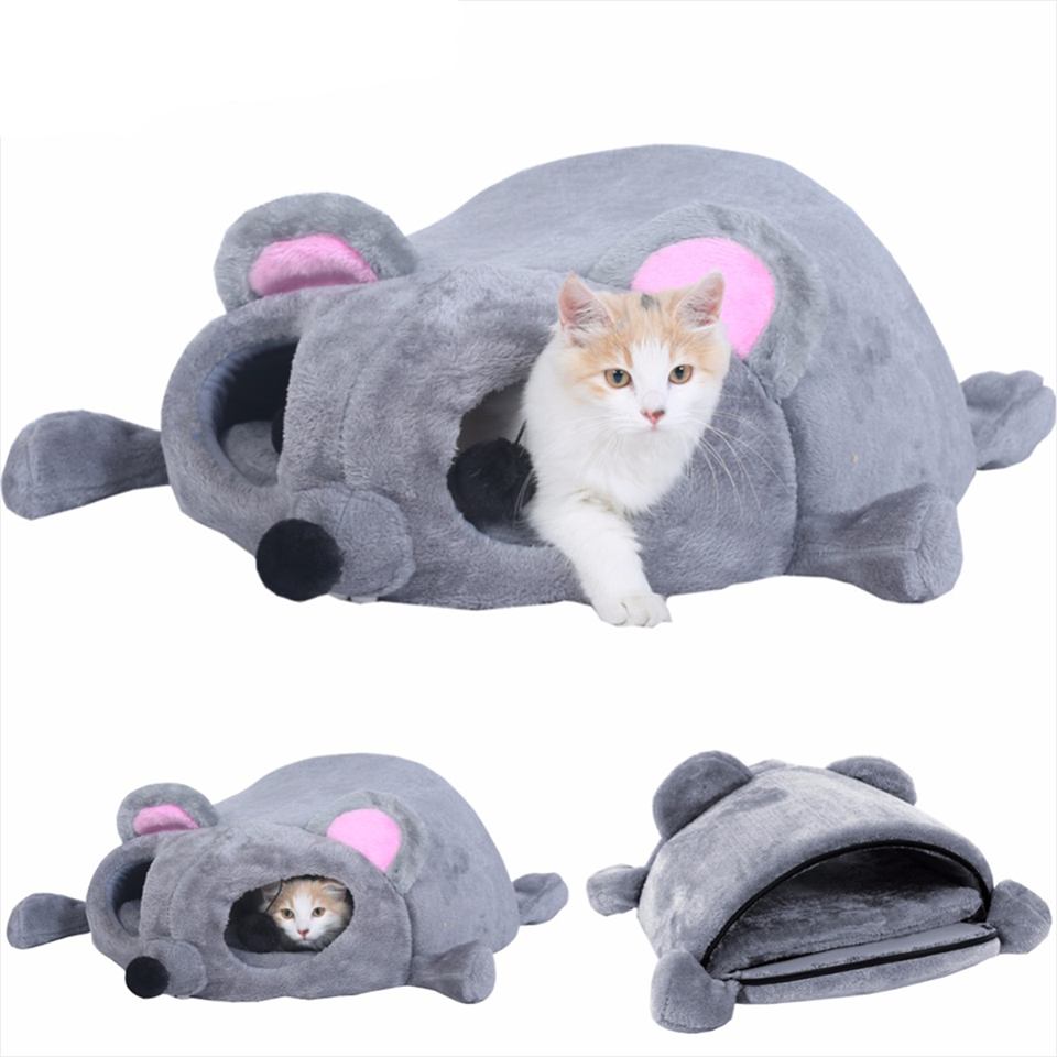 Mouse Cat House Bed With Removable Cushion & Waterproof Bottom - CoolstuffCenter