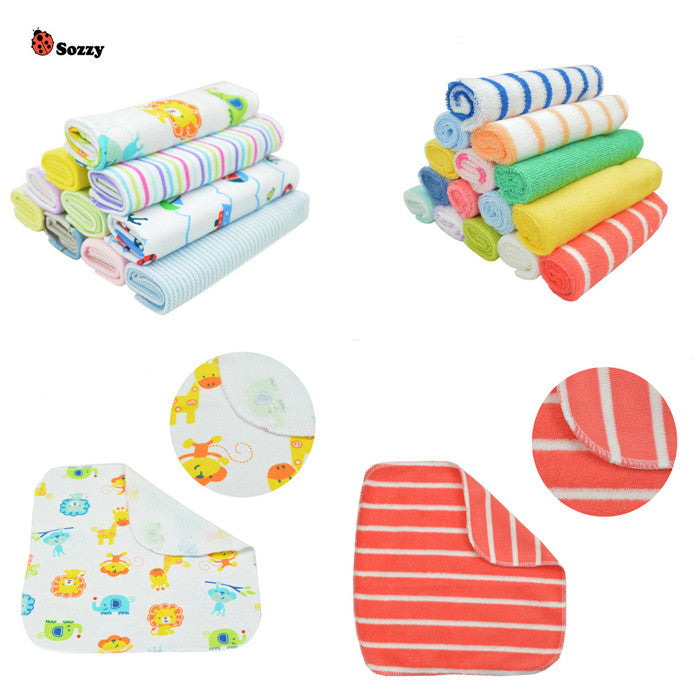 8pcs Baby Towel Cotton Saliva Towel Nursing Towel Feeding Towel Wash Cloth Cute Baby Handkerchief - CoolstuffCenter