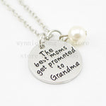"2015 New arrive Hand stamped Necklace ""The Best Moms Get Promoted to Grandma ""necklace Mommy Jewelry Pregnancy Announcement - CoolstuffCenter"