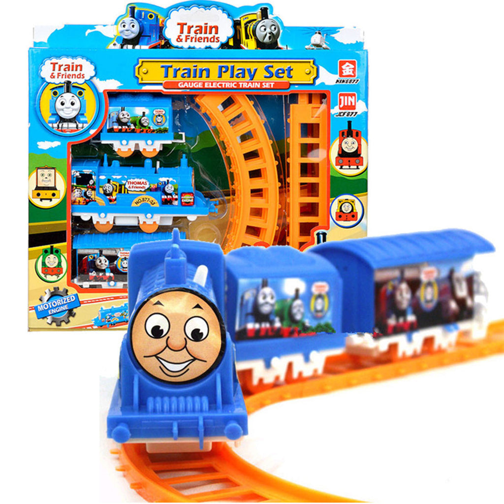 Plastic Thomas Electric Train Tracks Play Set Educational Toy for Kids Children - CoolstuffCenter