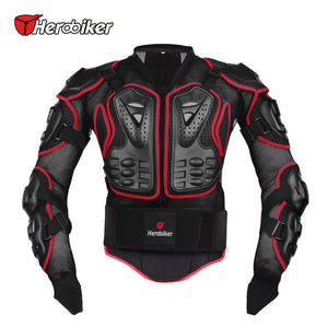 HEROBIKER Motorcycle Full Body Armor Jacket spine chest protection gear Motocross Motos Protector Motorcycle Jacket - CoolstuffCenter