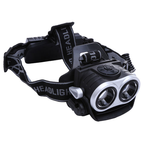 10000Lm 2x T6 LED Headlight Rechargeable Zoom 18650 USB ABS Plastic Outdoor Hiking Fishing Camping Headlight Headlamp Torch - CoolstuffCenter