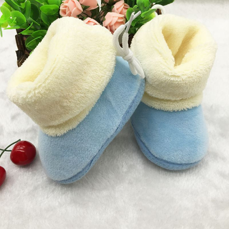 New Winter Newborn Baby Flock Warm Pre-walker Shoes - CoolstuffCenter