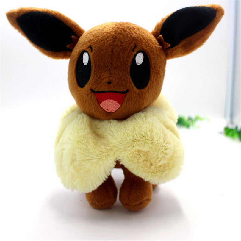 Hot Anime Character Eevee Plush Toys 20cm Kawaii Eevee Genius Soft Stuffed Animals Doll for Kids Toys Children Birthday Gift - CoolstuffCenter