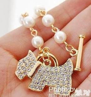 B083  Korean Wholesale Special Women's Classic Jewelry 2 color Shiny Dog Bracelets for girl free shipping - CoolstuffCenter