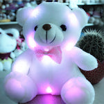 New Arrival 20cm LED Soft Colorful Glowing Small Animal Bear Stuffed Doll Plush Toys Kids Gifts - CoolstuffCenter