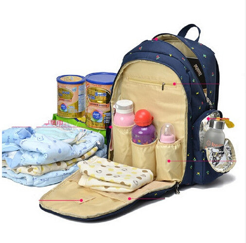 7 colors functional maternity backpack baby diaper bags nappy changing bags for travel mother mummy - Baby Diaper Bags