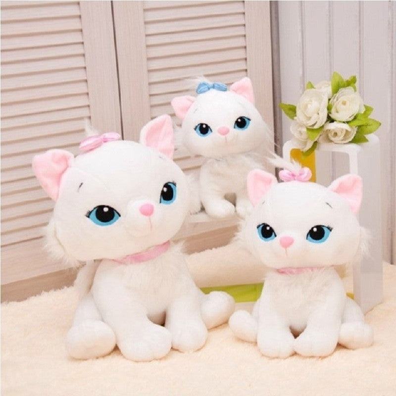 1pc 18CM Selling Product Cute Aristocats Cat Marie Plush Toys Anime Animal Paw Kit Doll For Girls - CoolstuffCenter