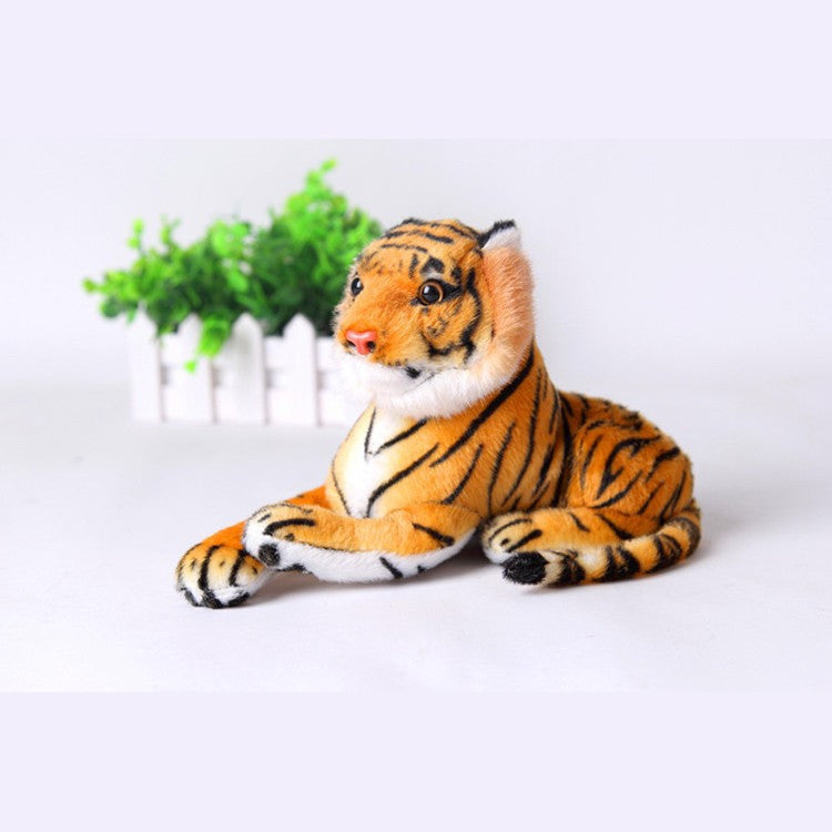 Cute Plush Tiger Animal Toys White Yellow Lovely Stuffed Doll Animal Pillow - CoolstuffCenter