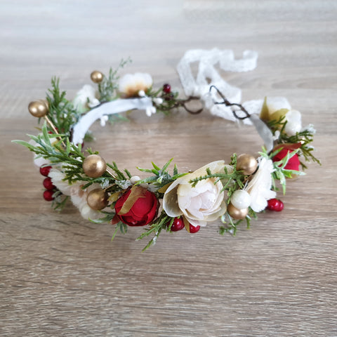 Rose crown - dusty pink