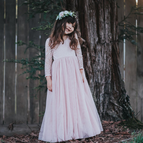 Poppy dress - tea length - dusty blush