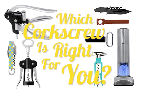 different types of corkscrew and wine openers