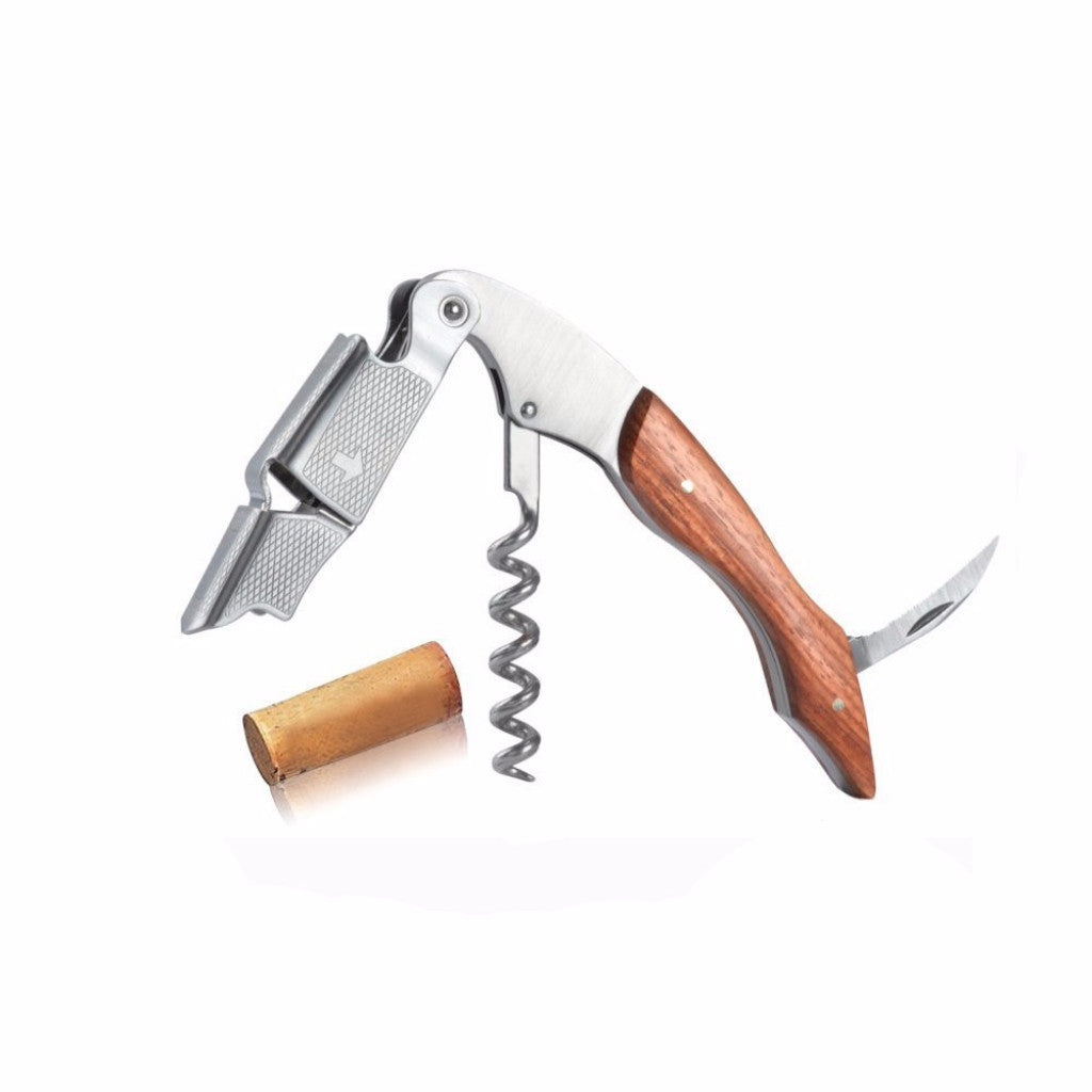 Cresimo Rosewood Corkscrew - With Bottle Opener And Foil Cutter